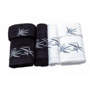 Set de 6 prosoape Valentini Bianco culoare alb cu negru model Star