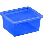 Cutie depozitare cu capac 2 litri albastru inchis