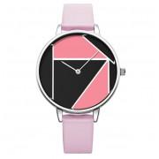 Shengke Geometryczny zegarek SK na różowym pasku