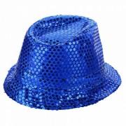 Luz LED parpadeante de las lentejuelas Jazz Hat - Azul (3 * AG13)