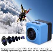 Cámara Deportes 360° WIFI Panorama Camera-Azul