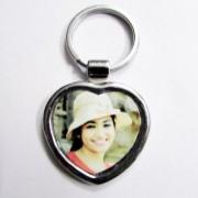 Heart Shaped Personalized Photo Keychain