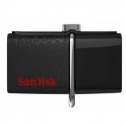 Sandisk SDDD2-016G 16 GB de memoria flash micro USB conector negro