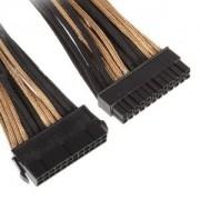 Cablu prelungitor BitFenix Alchemy 24 pini ATX, gold/black, BFA-MSC-24ATX45AKK-CK