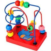 EITC Around Circle Bead Wooden Beads Maze Developmental & Educational Toys Baby Toddler Toys Circle Bead Maze