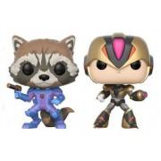 Funko Pop POP pack 2 figures Capcom vs Marvel Rocket vs MegaMan X Exclusive