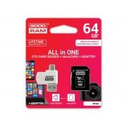 Goodram microSDXC 64GB Class 10 karta + adapter + czytnik