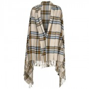 Levi´s Beige Plaid Wrap Schal Strickschal Winterschal Damenschal Herrenschal
