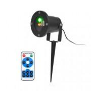 Proiector Laser LED Tip Star Shower 3D Metal InteriorExterior 24 Efecte de Lumini Miscatoare si Telecomanda
