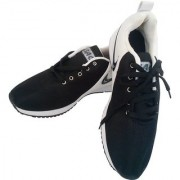 RetailWorld Black/White Training Shoes with Branded Logo