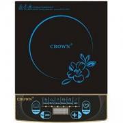 Електрически индукционен котлон Crown CVIC-2002(IC-2002), Ръчен и автоматичен режим, 2000 W, Черен/Син