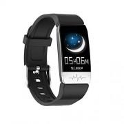 Changli Reloj inteligente Bluetooth, reloj inteligente de pulsera inteligente con monitor de temperatura corporal, podómetro, monitor de sueño, compatible con smartphone Android Negro ZYDCLUS-821