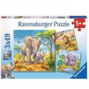 Пъзел Ravensburger 2х49 части - Диви животни, 7008003