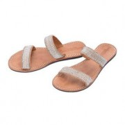 Laidback London Silver Beads Flats, 4 - Brown/Silver