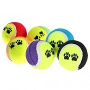 Rrimin Pet Supplies Dog Toy Tennis Balls Run Fetch Throw Play Toy Chew Toy Color Random(45421)