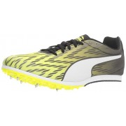 PUMA Men's Evospeed Star 5 Soccer Shoe, Safety Yellow/Puma Black/Puma White, 8. 5 M US
