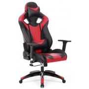 Gamestoel met kantelfunctie en verstelbare armleuningen (zwart / rood)