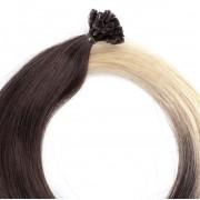 Rapunzel® Hair extensions Bondings Original Glatt O2.6/8.0 Dark Ash Blond Ombre 50 cm