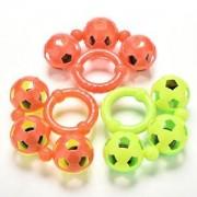 Tradico® TradicoBrand New 1 Pcs Three Bells Rattles Plastic Baby Toys Hand Shake Bell Ring Rattles HU