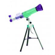 Telescop pentru copii Educational Insights, 2 lupe diferite, trepied cu sursa de lumina