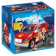 Coche De Bomberos Playmobil Con Luz Y Sirena - 5364