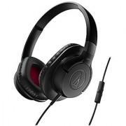 Audio-Technica ATH-AX1iSBK SonicFuel Over-Ear Headphones for Smartphones Black