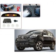 Auto Addict Car White Reverse Parking Sensor With LED Display For Mahindra XUV 700 (Alturas G4)