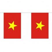 Merkloos Polyester Vietnam vlaggenlijn 9 m