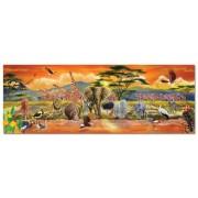 Melissa & Doug 12873 African Plains Safari Jumbo Jigsaw Floor Puzzle (100 Pieces, Over 1 Meter Long)