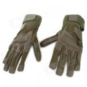 SW3028 deportes al aire libre-completo Dedos cortavientos Guantes Alpinismo - Ejercito Verde (Tamano XL / par)