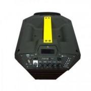 Boxa cu Statie Activa tip Troller 2 Microfoane Wireless Telecomanda Cititor Stick Card SD FM Radio 100 W