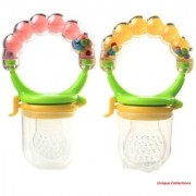 Apna Unique Collection Fresh Feeding Safe Food PP Fruit Feeder Nibbler Nipples Teat Pacifier Bottles for Kids (Multicolour)- Pack of 2