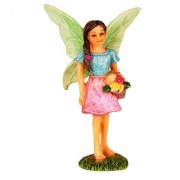 Wonderlnad Miniature fairy garden Flower Basket Fairy(5 x 4 x 9 cm)