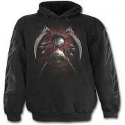 kapucnis pulóver férfi - Finger Death - SPIRAL - T074M451