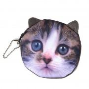 NEW Printed Cat Face Zipper Coin purse wallet bag coin pouch children's purse women coin wallet