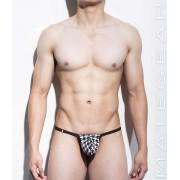 Mategear Ae Jae Special Fabrics Series II ZigZag Max Maximizer Ultra Slingshot Pouch Swimwear Dark Brown/White 1140101