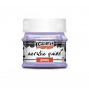 Pentart Fényes világoslila színű akril bázisú hobbi festék 50 ml