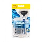Gillette Mach3 sada holicí strojek s jednou hlavicí 1 ks + náhradní hlavice 4 ks pro muže