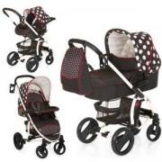 Бебешка комбинирана количка - Malibu XL All in One Set Dots Black, Hauck, 146057