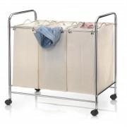 CARO-Möbel Wäschewagen KATJA mit 3 Fächern auf Rollen
