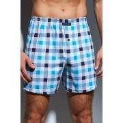 Comfot 002120 férfi káró mintás boxeralsó, kék 4XL