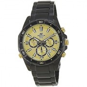 Casio Analog Gold Round Watch - EFR-534BK-9AVDF (EX173)
