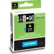 Dymo D1 Label Cassette 19mmx7m (SD45811) - White on Black