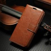 Samsung Galaxy S8 Plus Luxury Vintage Brown Wallet Stand Case
