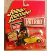 Johnny Lightning Hot Rod - 1932 Ford Roadster (Yellow) #5 - Scale 1:64