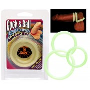 """Set Anelli Fallici """"Cock & Balls Rings"""" - Fluorescenti"""