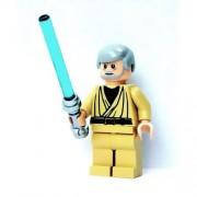 Lego Star Wars Mini Figure Obi-Wan Kenobi (white pupils) with Lightsaber (Approximately 45mm / 1.8 Inches Tall)
