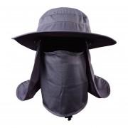 Suns Anti UV protección cara cuello solapa sol gorra diadema sol lluvia gorra pesca senderismo Sombrero LANG(#Gris oscuro)