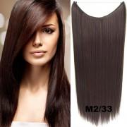 Flip in vlasy - 60 cm dlouhý pás vlasů - odstín M2/33 - Světové Zboží