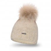 Zimowa czapka damska PaMaMi - Beżowy